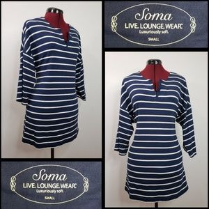 soma intimates woman sleepwear dress stripe small